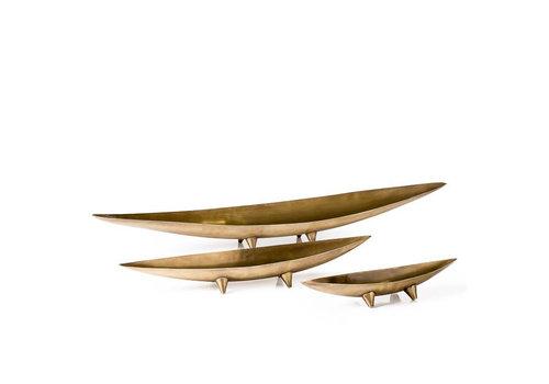 Antique Brass Tapered Boat Medium