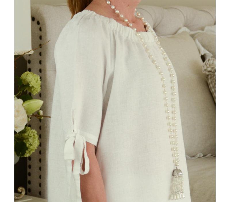 Jennifer Top (Bow Tie) White XS/S