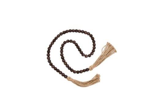 Tassel Prayer Beads, Brown