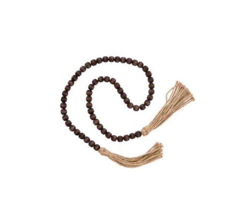 Tassel Prayer Beads Brown
