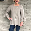 Bella Blouse Washed Taupe - S