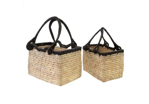 Date Leaf Magazine Basket Large