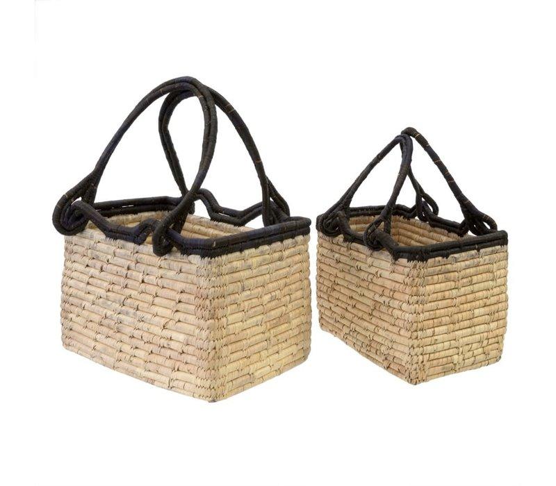 Date Leaf Magazine Baskets - Set of 2