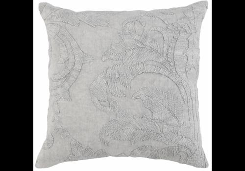 BT Laurel Gray Pillow 22x22