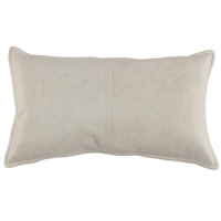 Leather Mumford Gray Pillow 14x26
