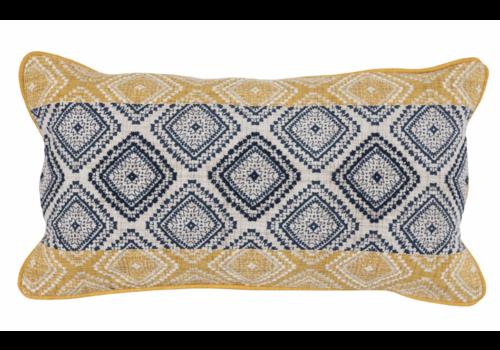 NE Florence Sunflower/Navy Pillow 14x26
