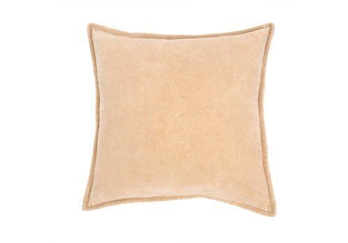 Velvet Pillow, Sand 20x20