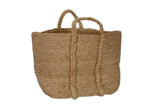 Large Jute Basket Natural
