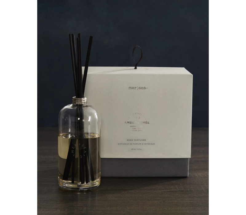 Luxe Glass Scent Diffuser Amber Fumee