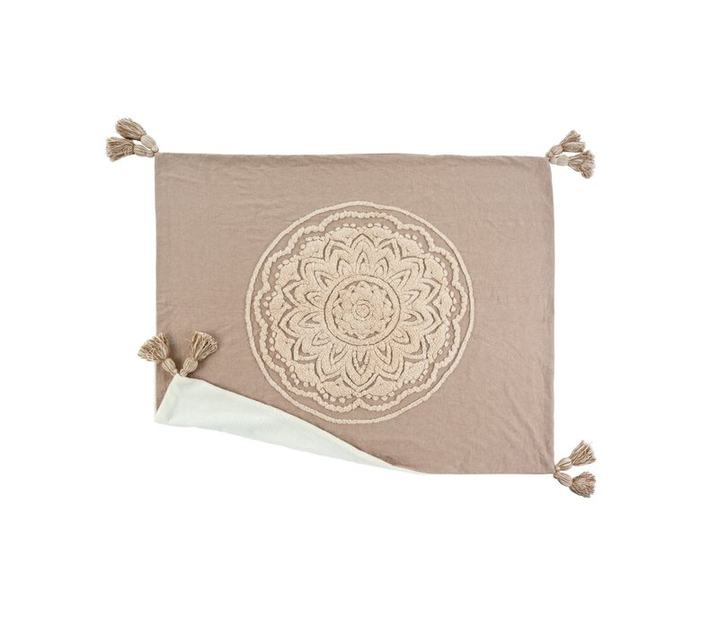 Chambray Mandala Throw Sand