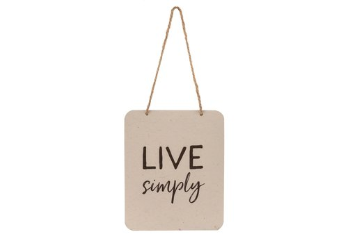 Live Simply Wooden Note