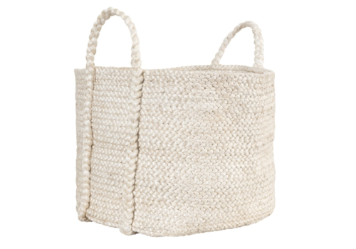 Large Jute Basket Ivory