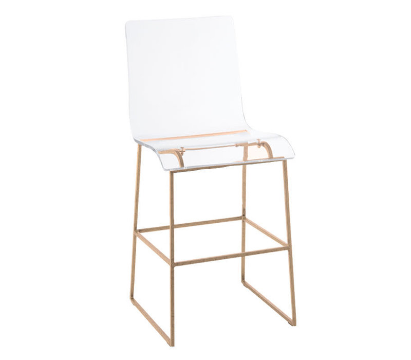 King Counter Stool Gold