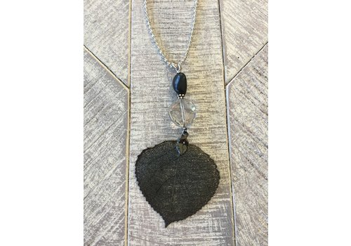 Large Leaf Chain Necklace