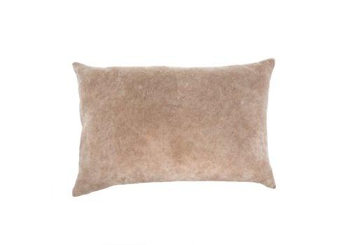 """Vera Velvet Pillow Taupe 16x24"""""""