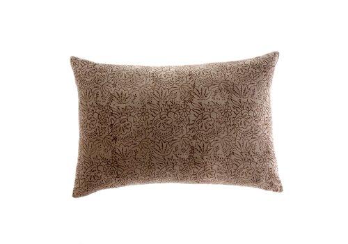 16x24 Printed Velvet Pillow Coffee