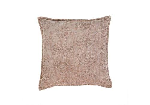 20x20 Jacquard Velvet Cushion Taupe