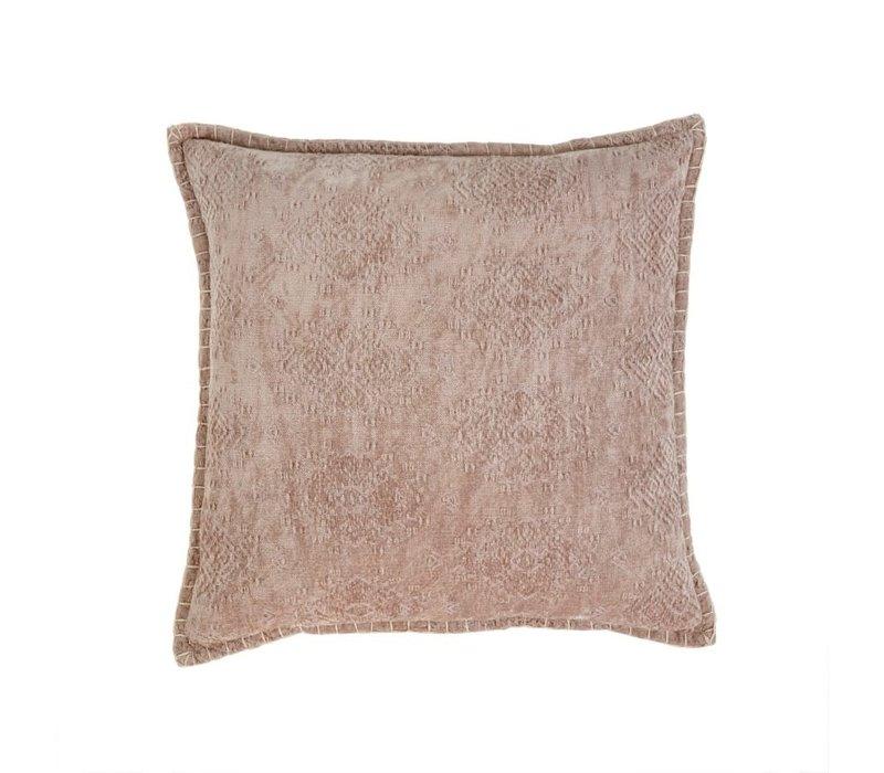 "Jacquard Velvet Cushion Taupe 20X20"""