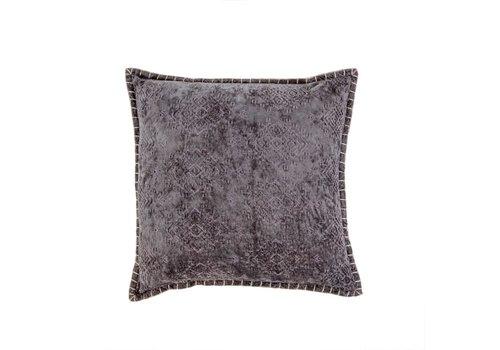 20x20 Jacquard Velvet Cushion Grey
