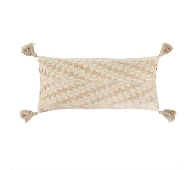 Athens Bolster Pillow -Ecru