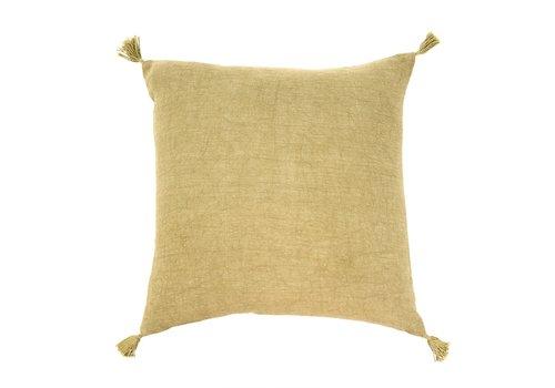20x20 Nori Linen Cushion Green