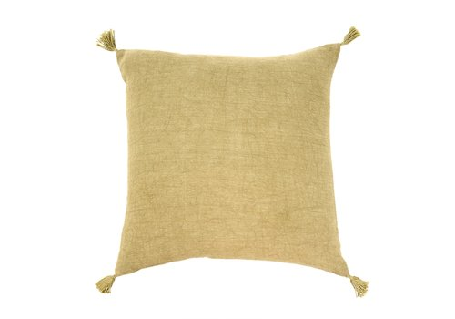 Nori Linen Cushion Green 20x20""