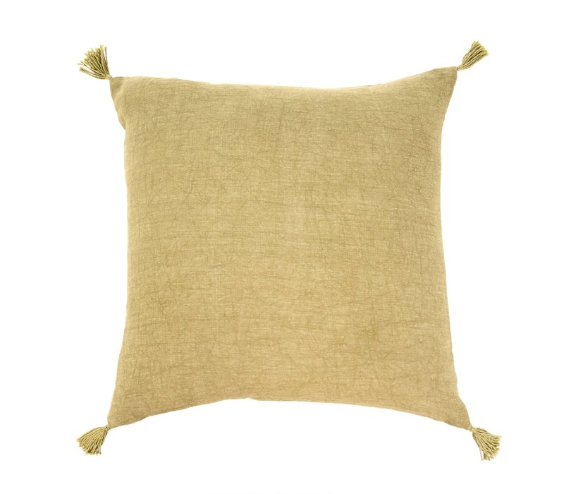 20x20 Nori Linen Cushion Green