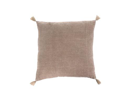"""Nala Linen Cushion Sand 20x20"""""""