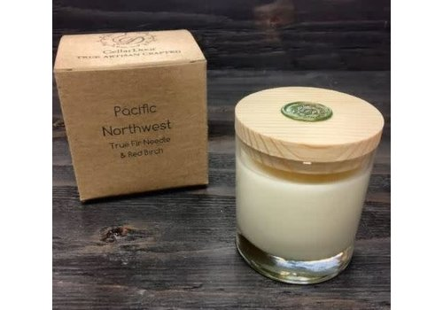 Pacific Northwest Glass Candle