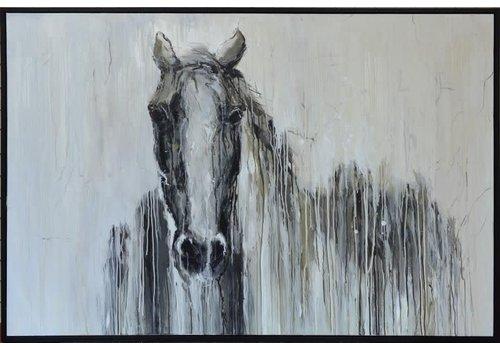 Blaze Framed Canvas Art  Hand painted horse