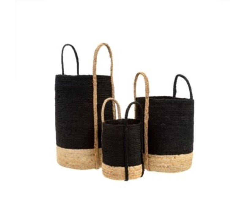Gibson Jute Basket Black Medium