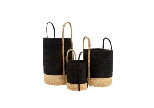 Gibson Jute Basket Black Large