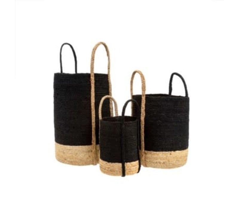 Gibson Jute Basket Black Large