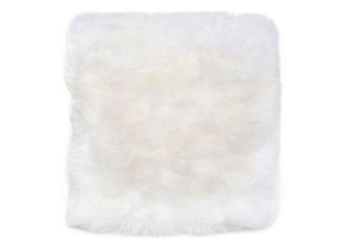 """Sheepskin Chair pad  White 14x14"""""""