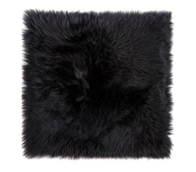 "Sheepskin Chairpad 14"" x 14"" Black"