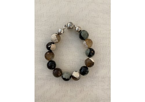 Agate Ball Bracelet Multi Colour