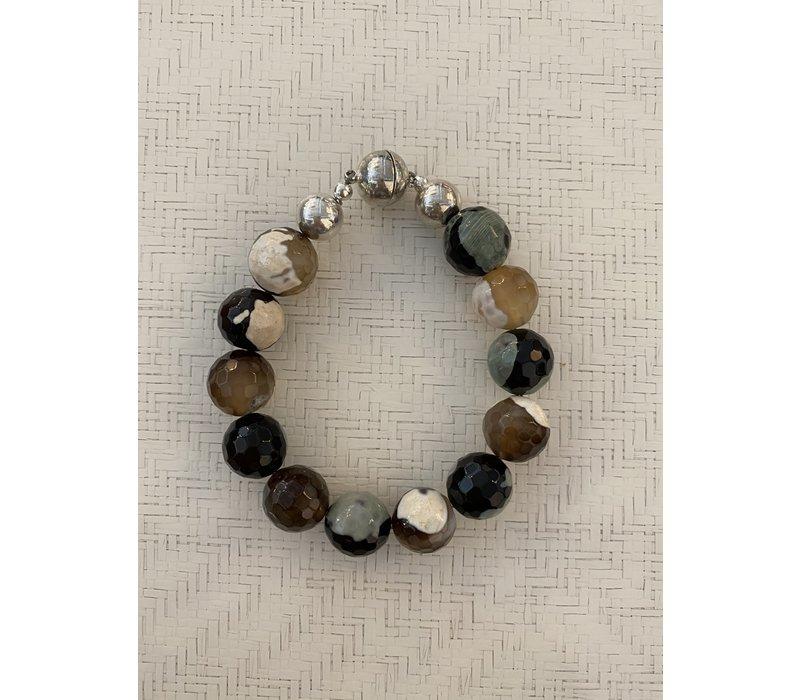 Agate Ball Bracelet Multi Colour