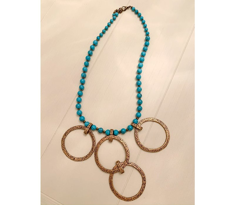 Bronze & Turquoise Necklace