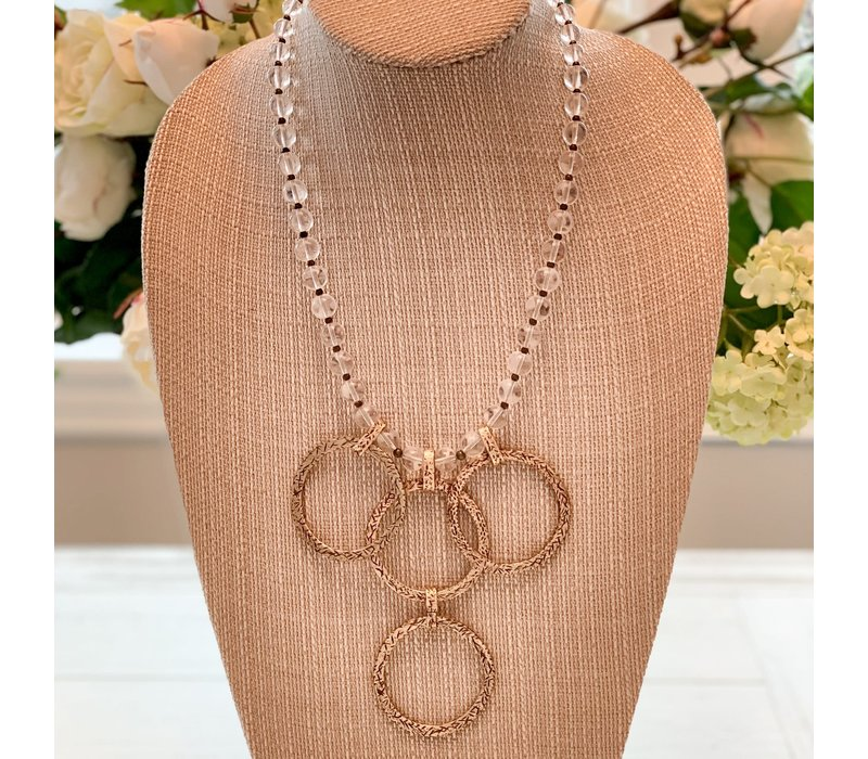 Bronze & Clear Necklace