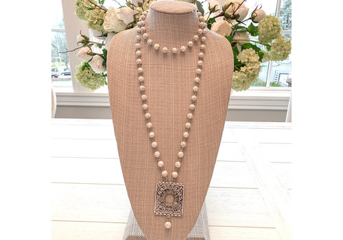 Boho Necklace - Cream
