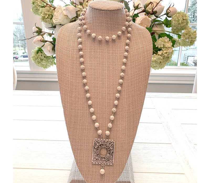 Boho Necklace Cream