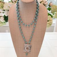 Boho Necklace Turquoise