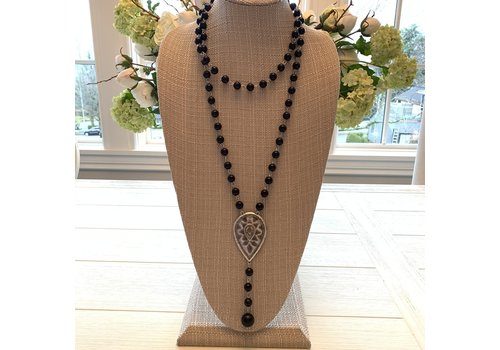 Teardrop Necklace - Black