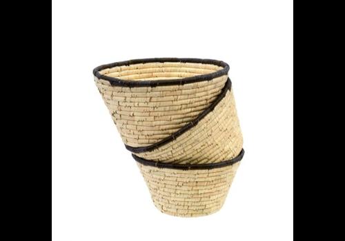Date Leaf Basket Bowl - L