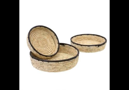 Date Leaf Basket Tray - L