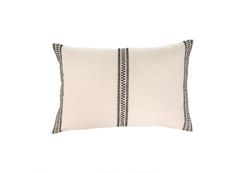 16x24 Riviera Pillow, Black and Cream