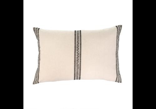 "Riviera Pillow Black and Cream 16X24"""