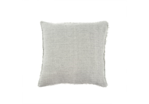 24x24 Lina Linen Pillow, Flint Grey