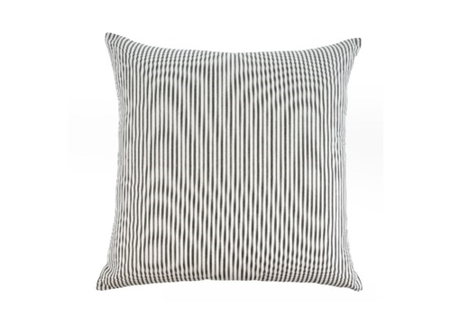 Ticking Cushion Black 24x24""