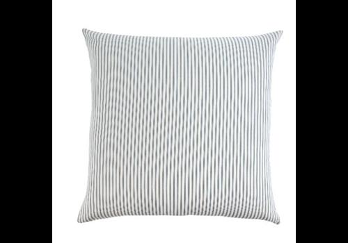 24x24 Ticking Cushion Navy